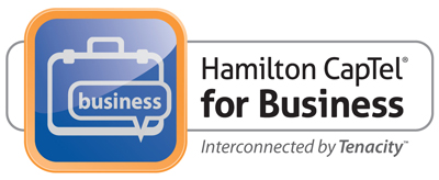 Hamilton Captel for Business Interconnected by Tenacity Logo